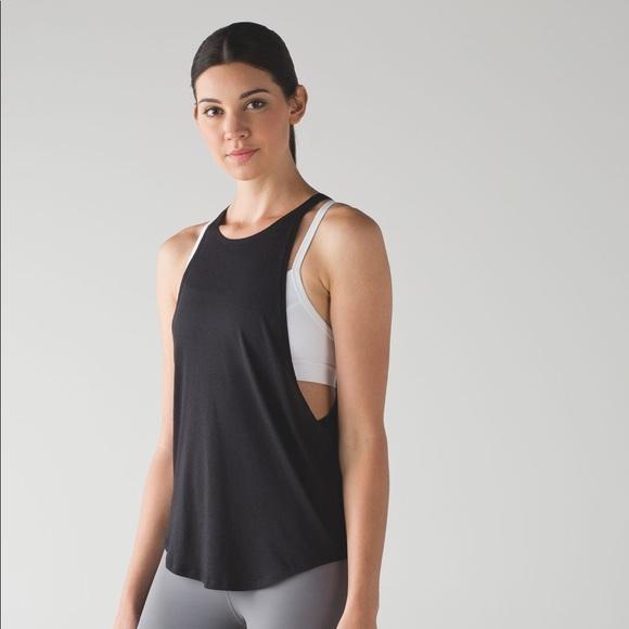 8b4070d791 lululemon athletica Tops | Lululemon Black Sweat Date Tank | Poshmark